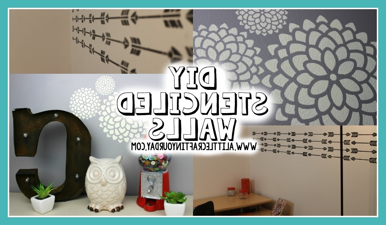 Famous Wall Art For Teenagers Pertaining To Diy Stenciled Wall Easy Teen Room Gallery Also Cool Art For (View 6 of 15)