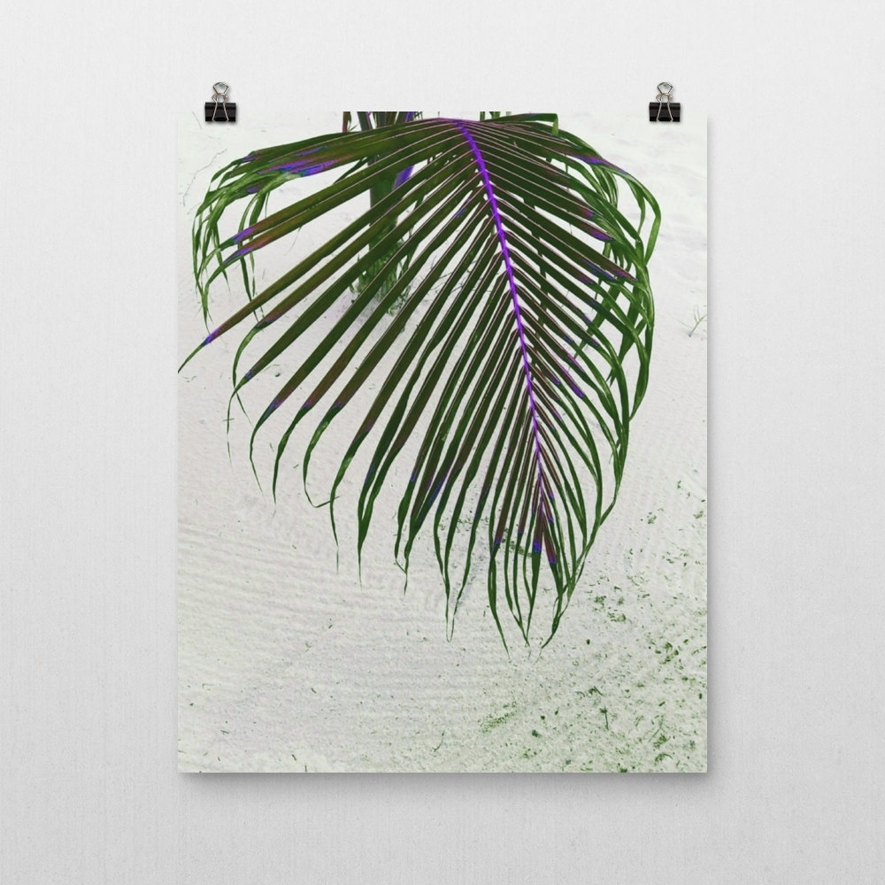 Famous Wall Art Print Palm Leaf Art Print, Greenery Home Wall Decor Throughout Palm Leaf Wall Art (View 3 of 15)