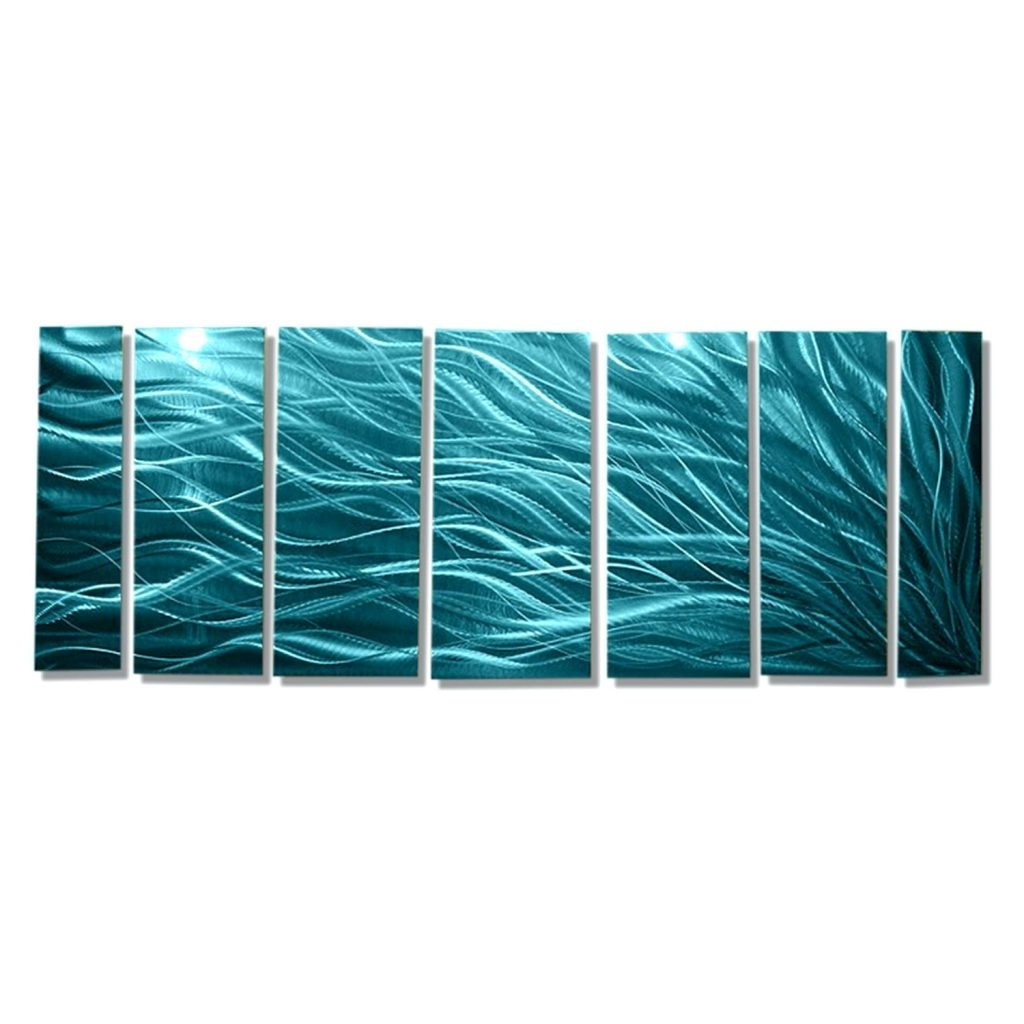 Famous Wall Arts ~ Rays Of Hope Aqua Xl Huge Modern Abstract Metal Wall Throughout Abstract Fused Glass Wall Art (View 14 of 15)
