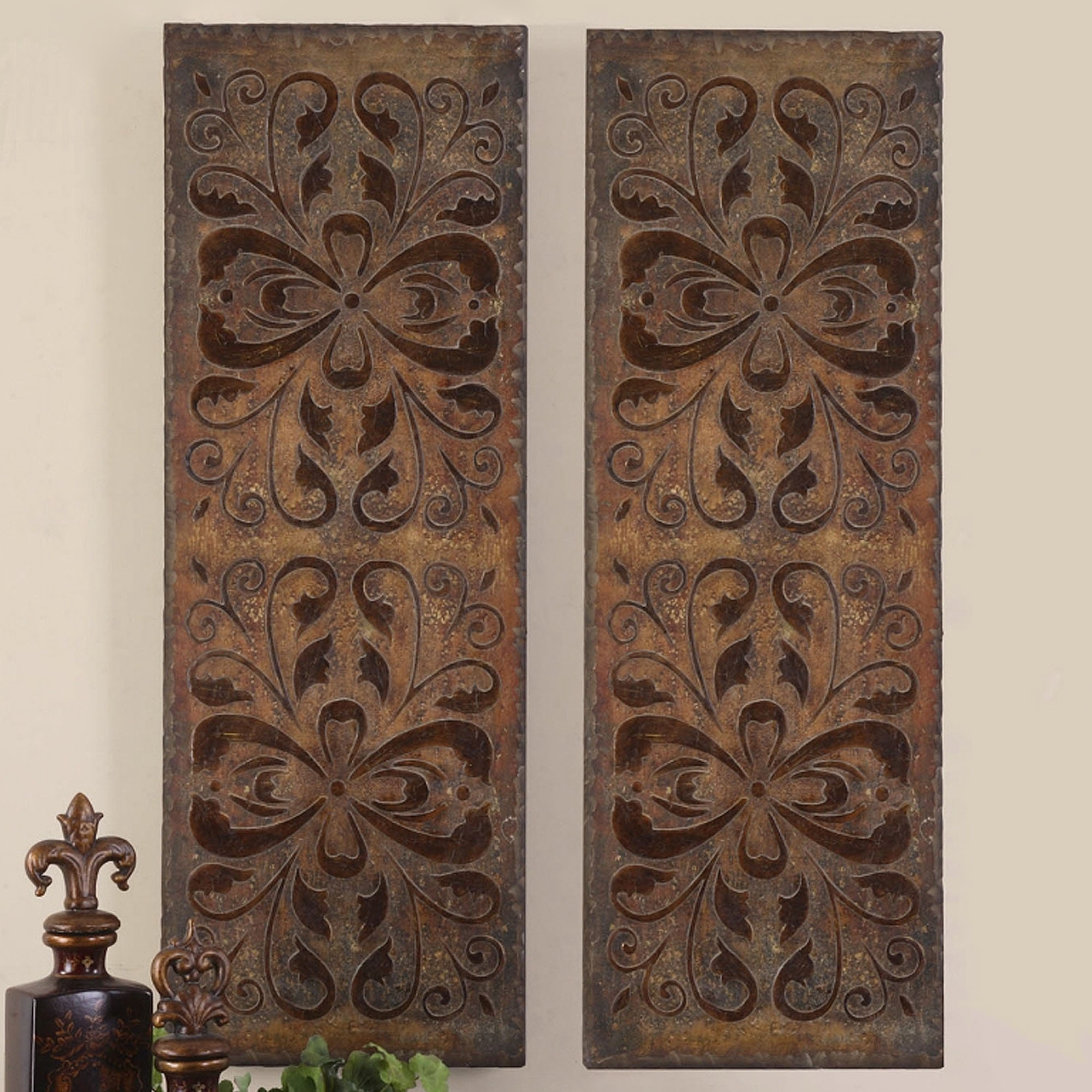Famous Wood Carved Wall Art Panels Regarding Home Design : Lovely Wood Panel Wall Decor 5 Carved Panels Art (View 2 of 15)