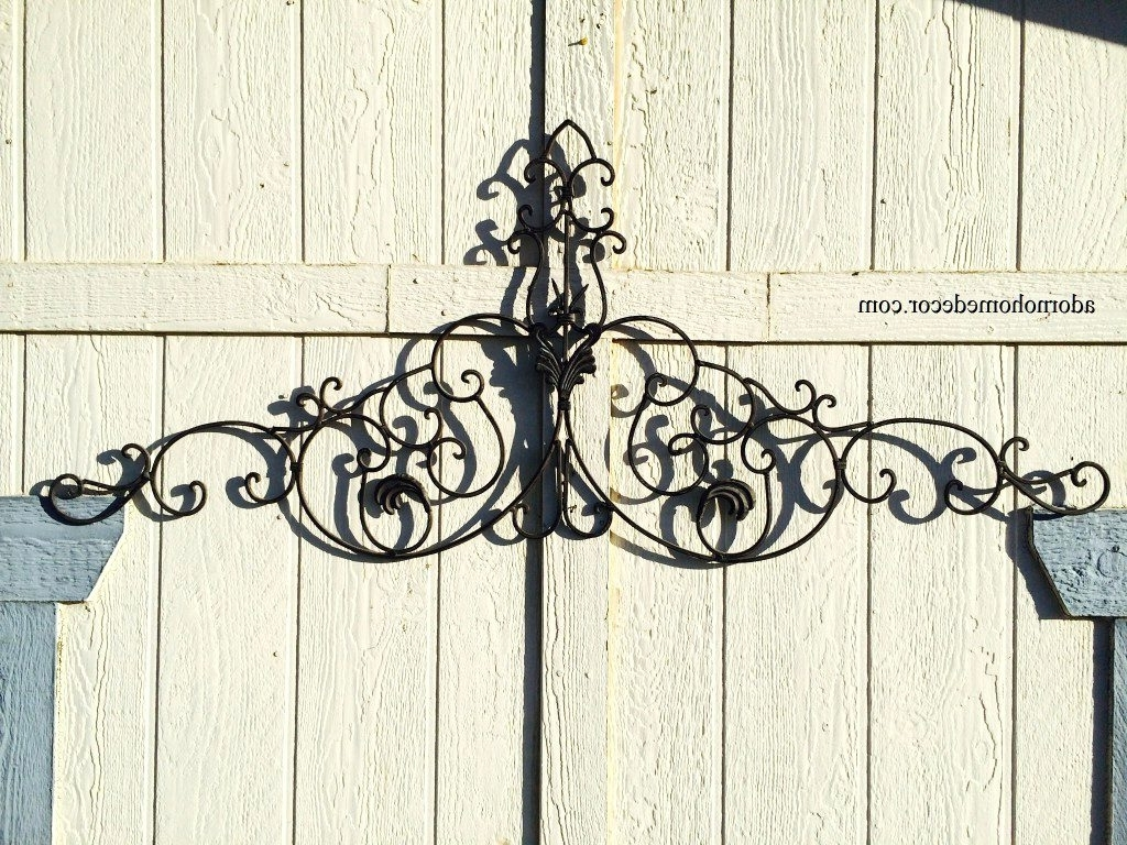 Famous Wrought Iron Garden Wall Art With Wall Arts ~ Superb Cast Metal Wall Decor Cast Iron Octopus Key (View 4 of 15)