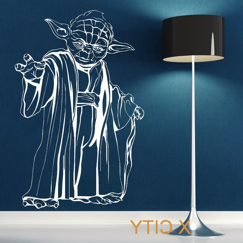 Famous Yoda Star Wars Wall Art Sticker Decal Removable Vinyl Cut Movie In Diy Star Wars Wall Art (View 6 of 15)