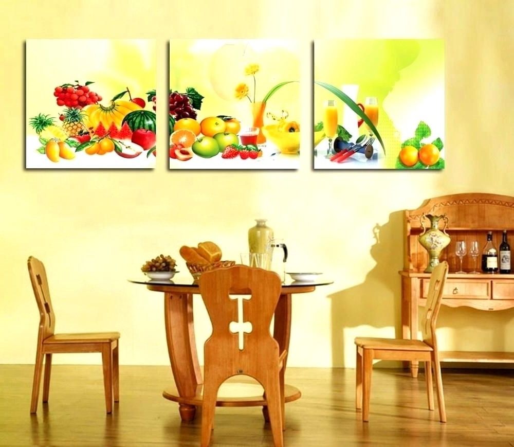 Dining room canvas wall art