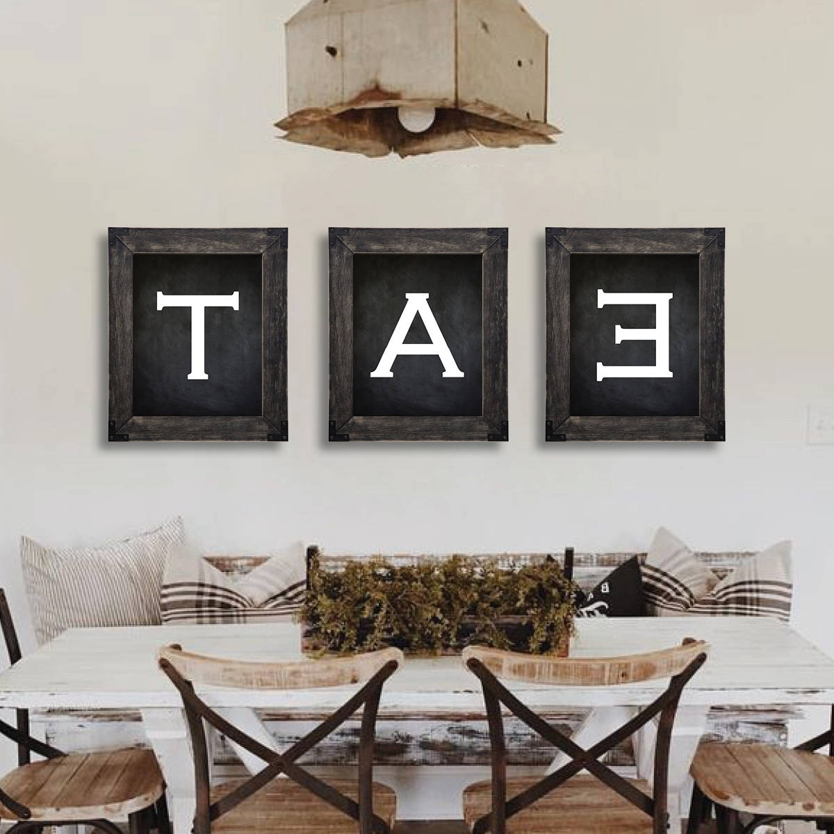 Farmhouse Decor. Eat Sign. Dining Room Wall Art (View 10 of 15)