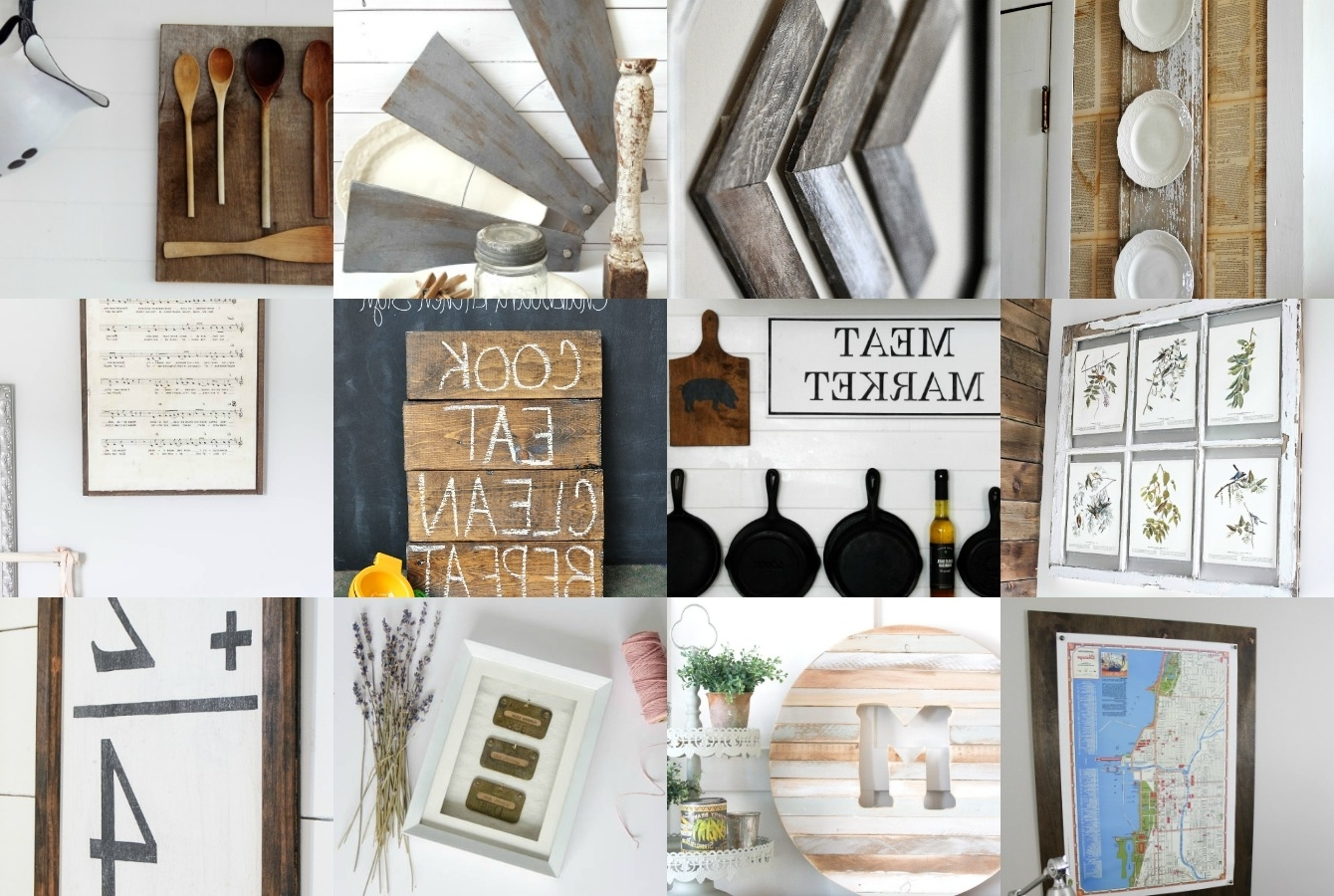 Farmhouse Wall Art Regarding Famous Diy Farmhouse Wall Decor Inspiration – The Crazy Craft Lady (View 3 of 15)