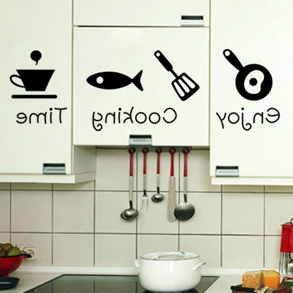 Fashion Design Creative Diy Wall Stickers Kitchen Decal Home Decor With Regard To Trendy 3D Wall Art For Kitchen (View 6 of 15)