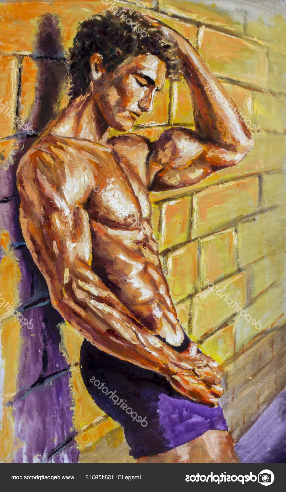 Fashionable Abstract Body Wall Art For Painting, Naked, Nude, Fassion, Illustration, Man, Male, Abs, Sexy (View 15 of 15)