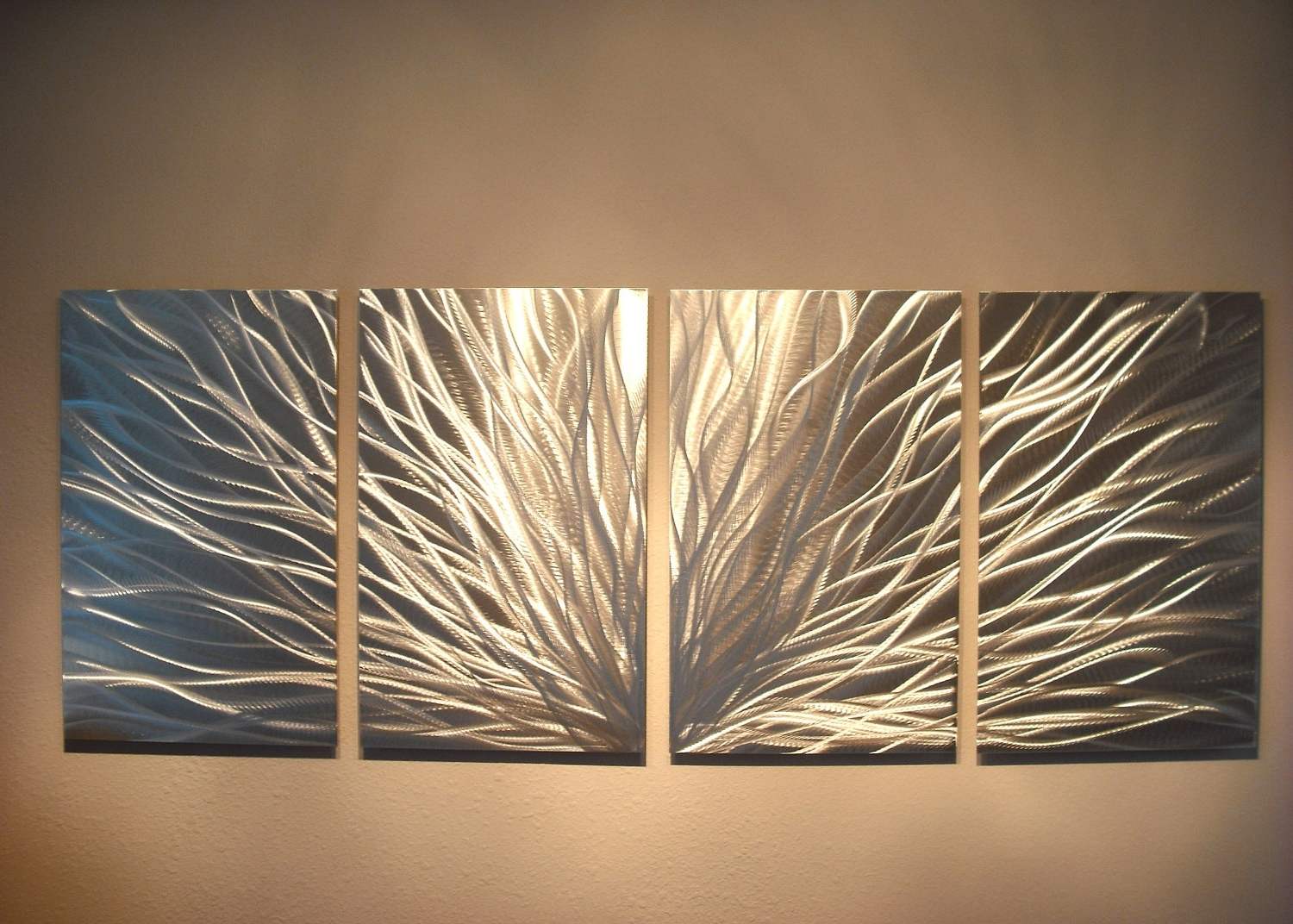 Fashionable Abstract Metal Wall Art Painting Regarding Radiance – Abstract Metal Wall Art Contemporary Modern Decor (View 11 of 15)