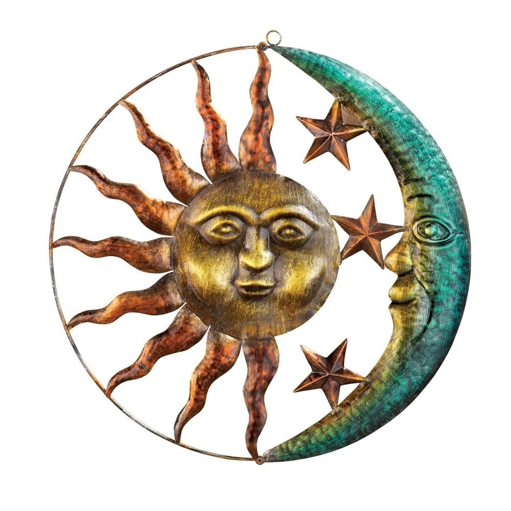 Fashionable Amazon : Artistic Sun And Moon Metal Wall Art For Indoor Or Intended For Sun And Moon Metal Wall Art (View 3 of 15)