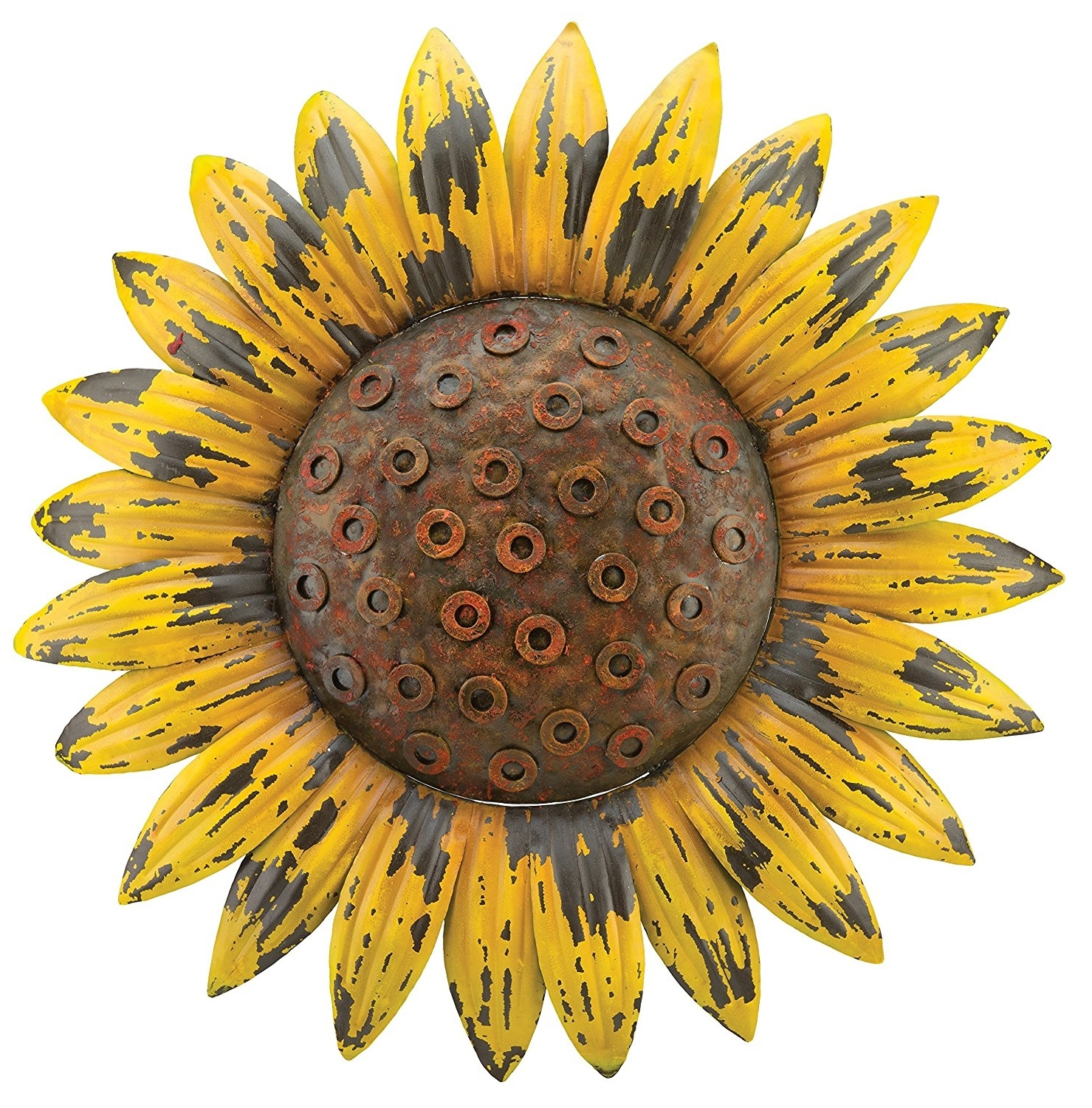 Fashionable Amazon: Regal Art U0026 Gift Rustic Flower Wall Decor, Sunflower  Pertaining To Metal