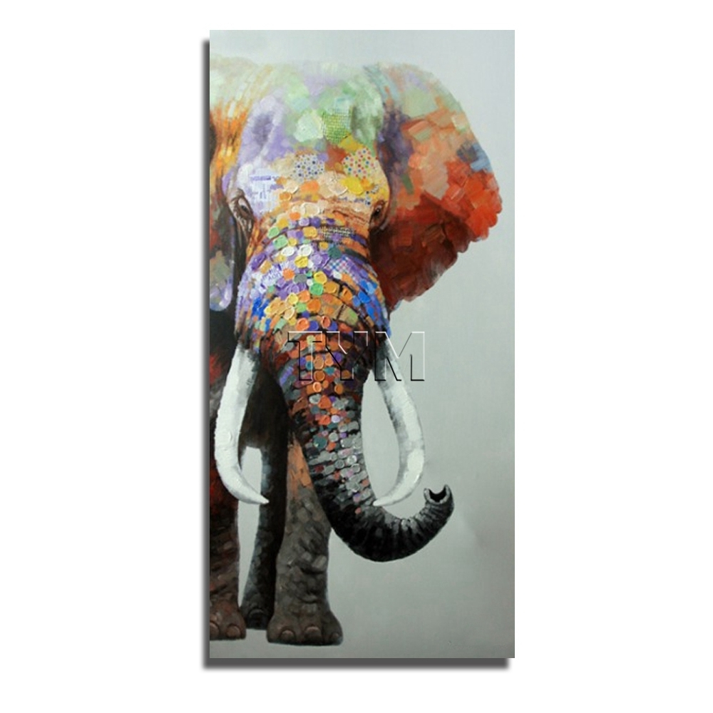 Fashionable Animal Canvas Wall Art For Indian Elephant Wild Animal Canvas Wall Art Modern Living Room (View 5 of 15)