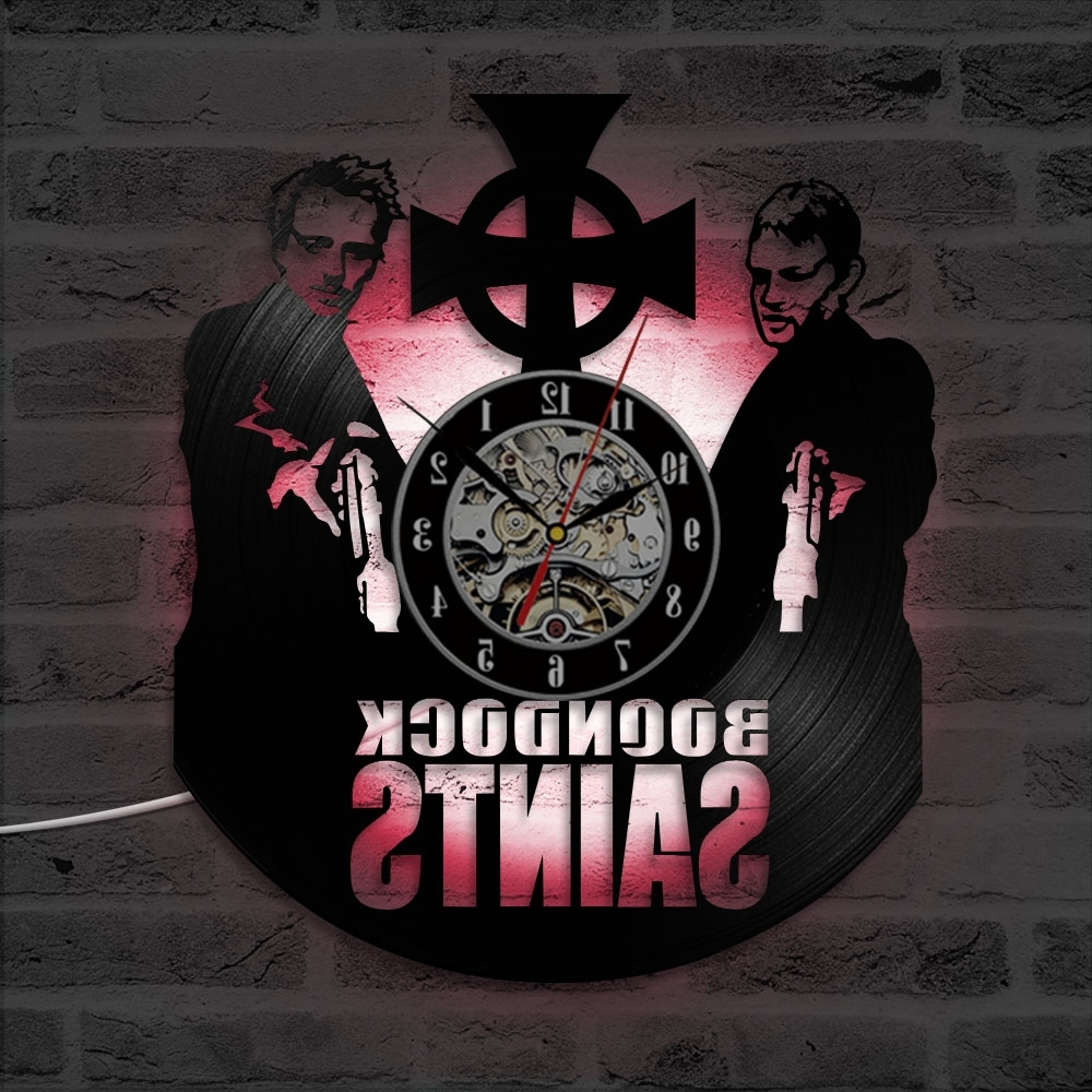 Fashionable Antique Style Creative Cd Record Wall Hanging Clock Boondock Throughout Boondock Saints Wall Art (View 9 of 15)