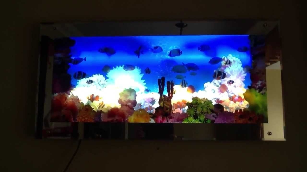 Fashionable Aquarium Moving Wall Art – Youtube For Electronic Wall Art (View 7 of 15)