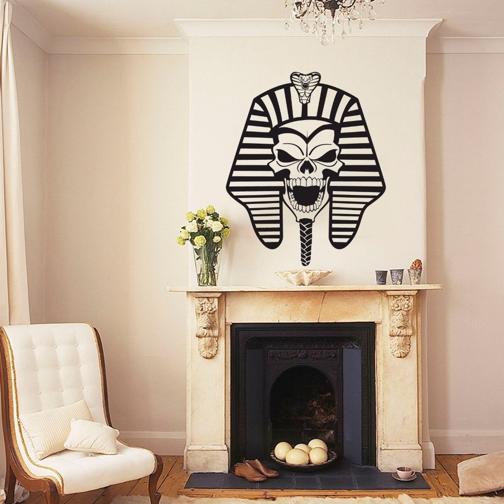Fashionable Art Deco Wall Decals Within Free Shipping Ancient Egyptian Pharaoh Avatar Vinyl Stickers (View 8 of 15)