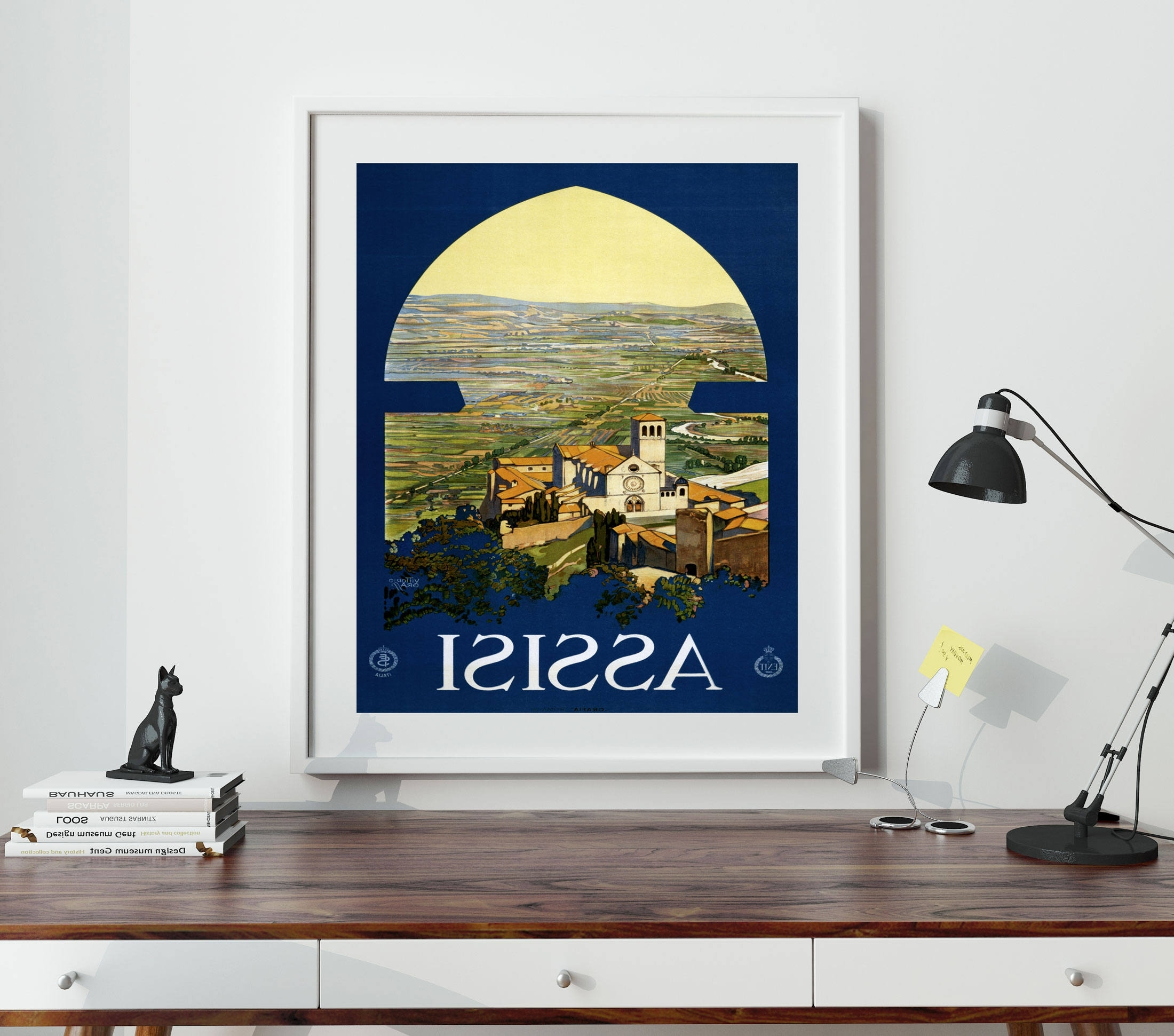 Fashionable Assisi Travel Poster Italy Travel Poster Italian Travel Poster In Italian Travel Wall Art (View 6 of 15)