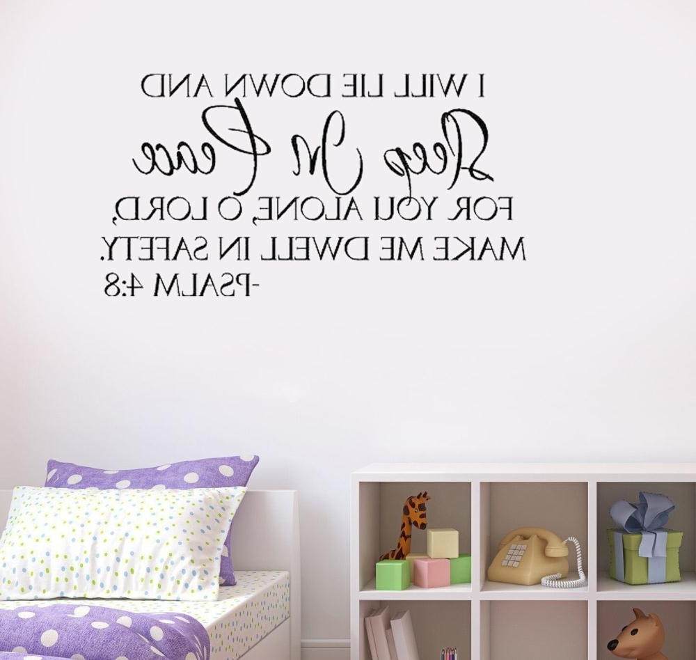 Fashionable Biblical Wall Art Within Wall Art Ideas Design : Sleep In Peace Contemporary Bible Verse (View 5 of 15)