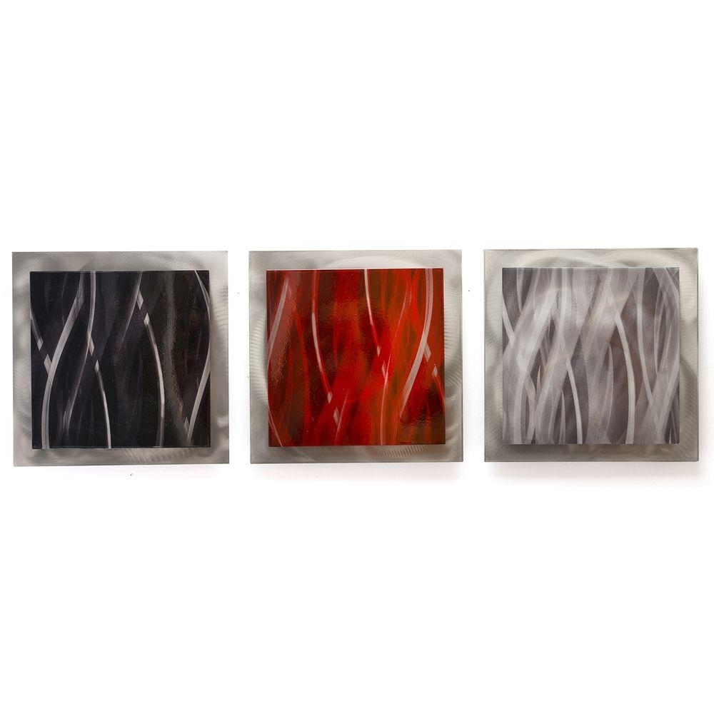 Fashionable Black Silver Wall Art With Filament Design Brevium 12 In. X 38 In (View 10 of 15)