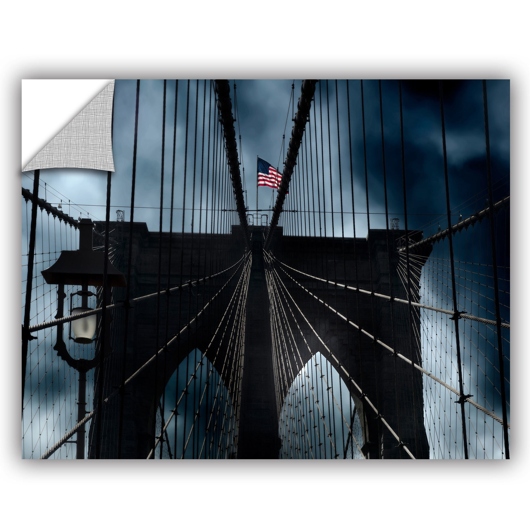Fashionable Brooklyn Bridge Wall Decals With Artwall Thomas Juul Stars And Stripes On Brooklyn Bridge Wall (View 11 of 15)