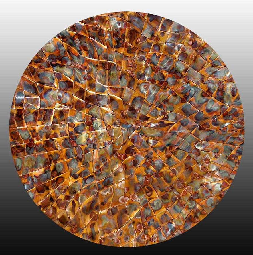 Fashionable Copper Metal Wall Art > Copper Wall Art Weavings > Woven Copper Art Within Woven Metal Wall Art (View 2 of 15)
