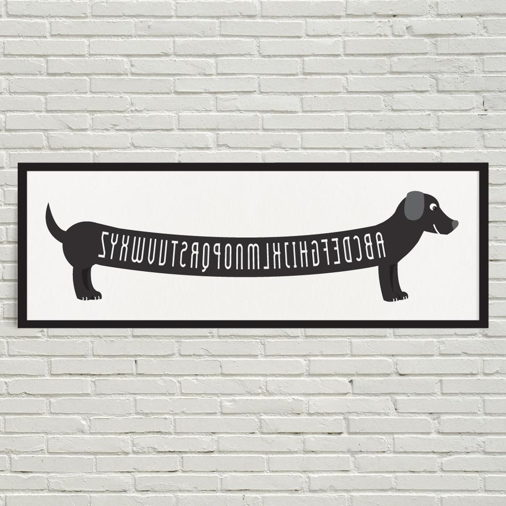 Fashionable Dachshund Wall Art Throughout Dachshund Wall Art Etsy (View 8 of 15)
