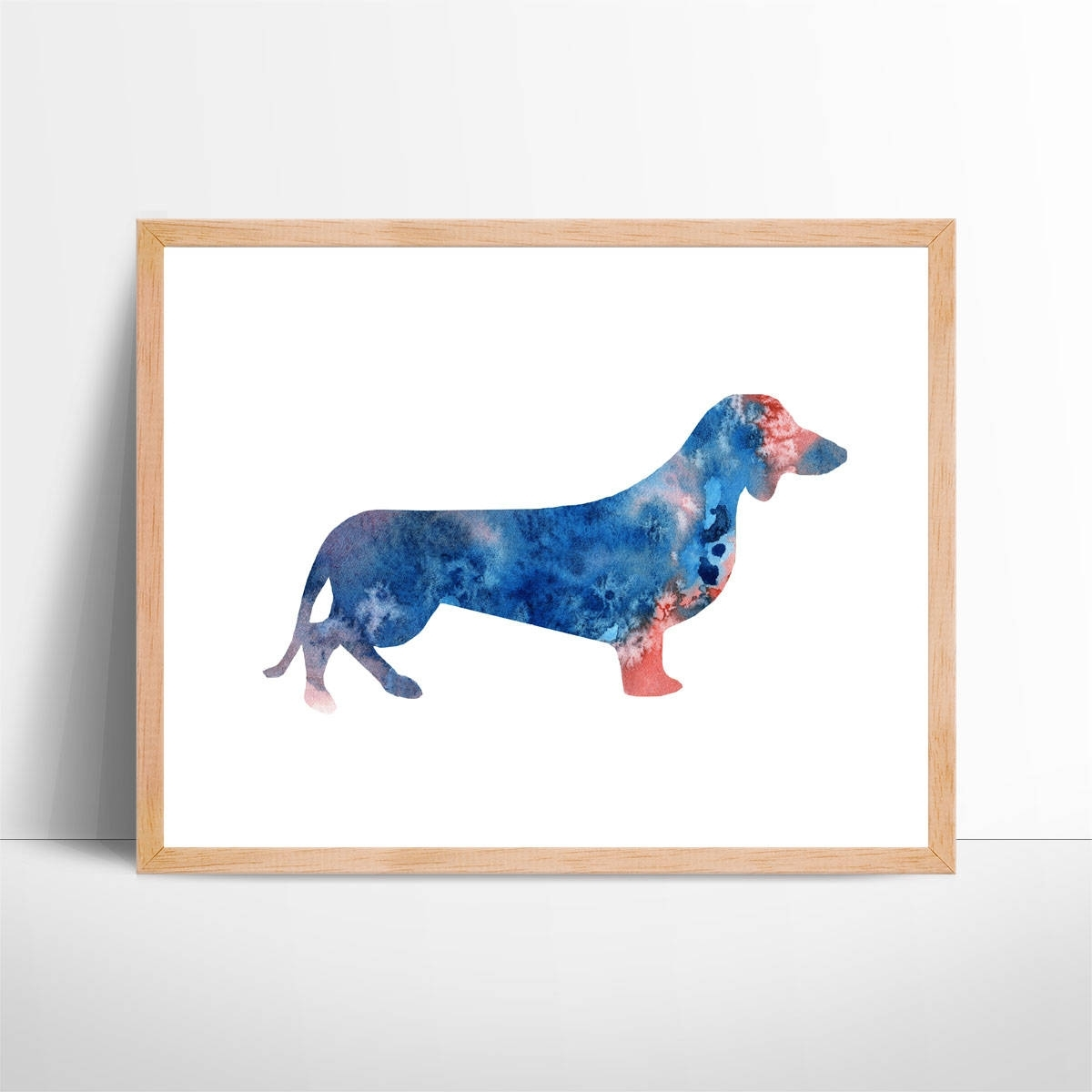 Fashionable Dachshund Wall Art With Regard To Watercolor Dachshund Art No (View 2 of 15)