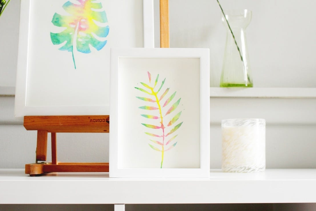 Fashionable Diy Watercolor Wall Art Pertaining To Create This Anthropologie Watercolor Wall Art For Half The Price (View 7 of 15)