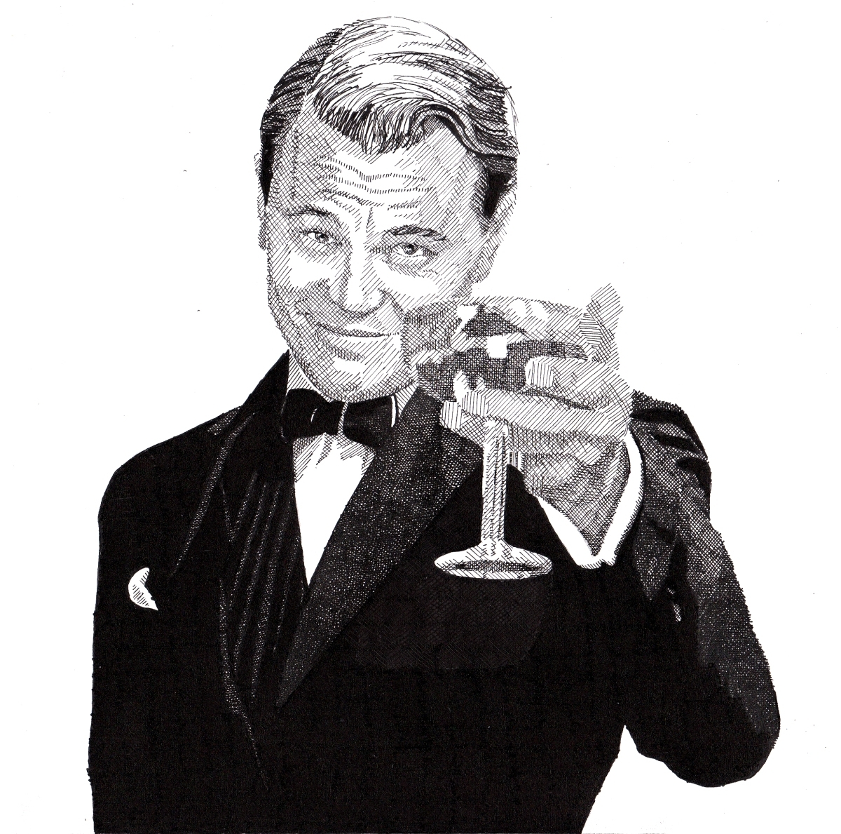 Fashionable Drawing Of Leonardo Dicaprio As Jay Gatsby In The Great Gatsby Throughout Great Gatsby Wall Art (View 9 of 15)