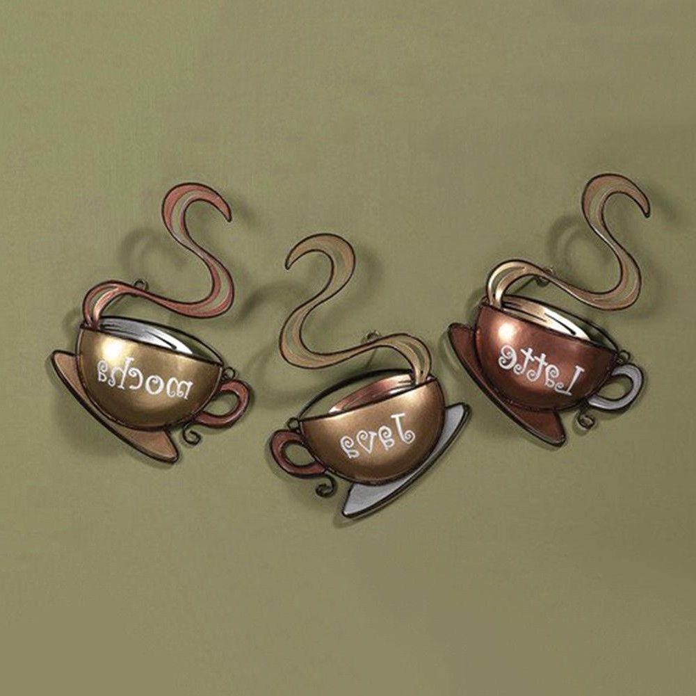 Fashionable Fantastic Kitchen Metal Wall Art Decor Ideas Latte Java Kitchen In Cream Metal Wall Art (View 7 of 15)