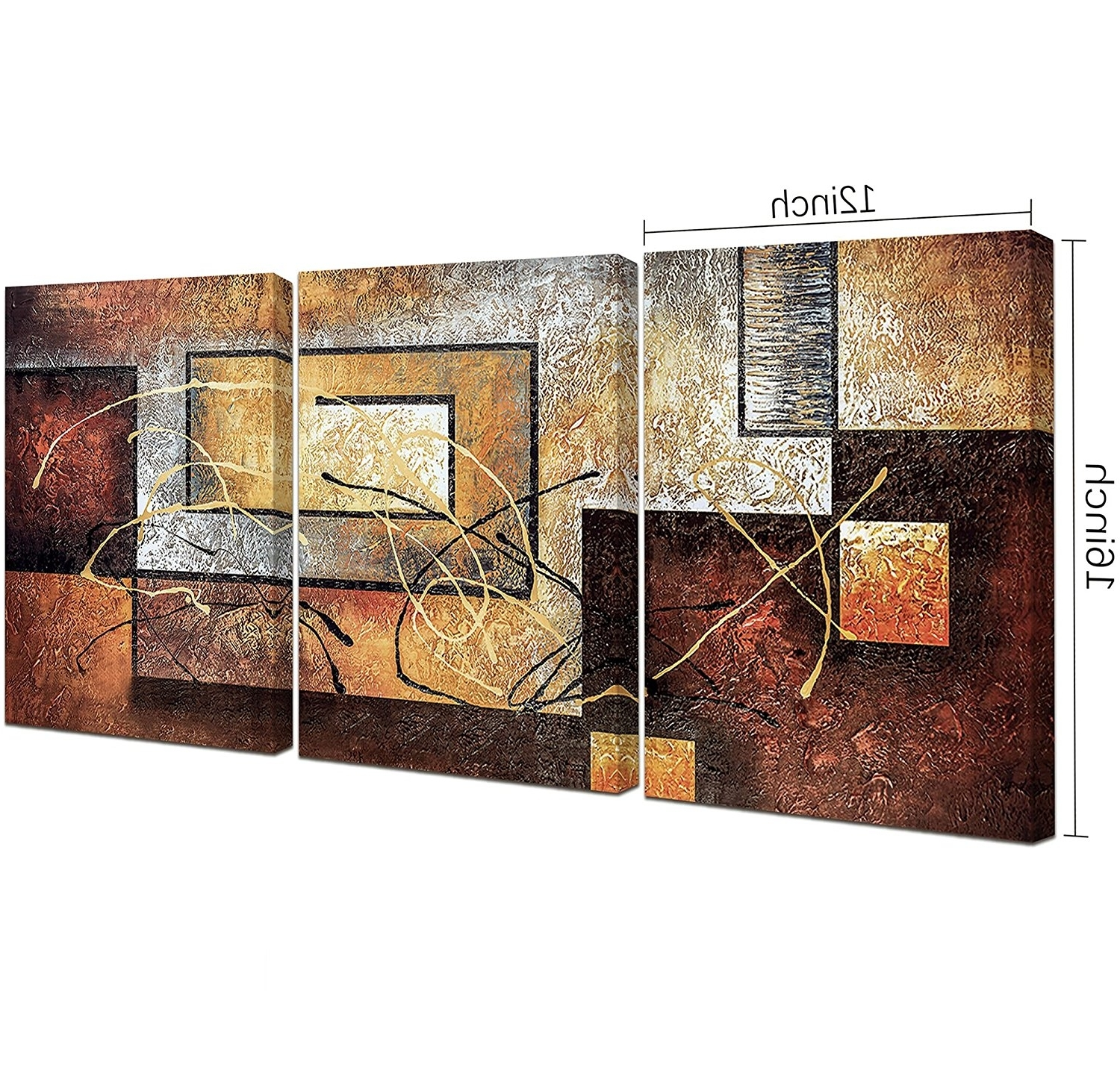 Fashionable India Abstract Metal Wall Art With Amazon: Phoenix Decor Abstract Canvas Wall Art Paintings On (View 6 of 15)