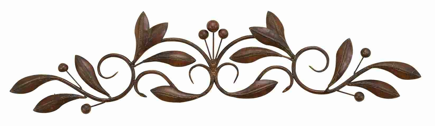 Fashionable Iron Scroll Wall Art With Regard To Small Buds & Vines – Metal Wall Art Scroll (View 2 of 15)