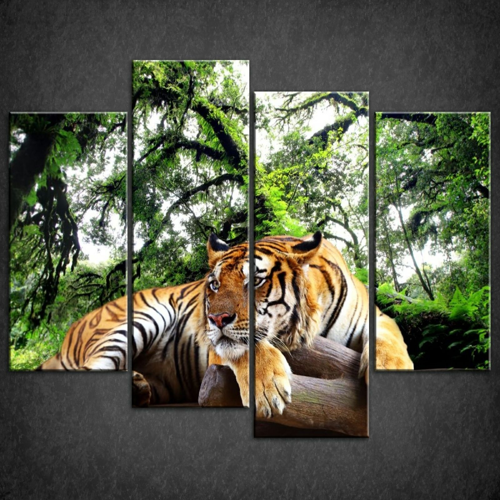 Fashionable Jungle Canvas Wall Art Throughout Canvas Print Pictures. High Quality, Handmade, Free Next Day Delivery (View 6 of 15)