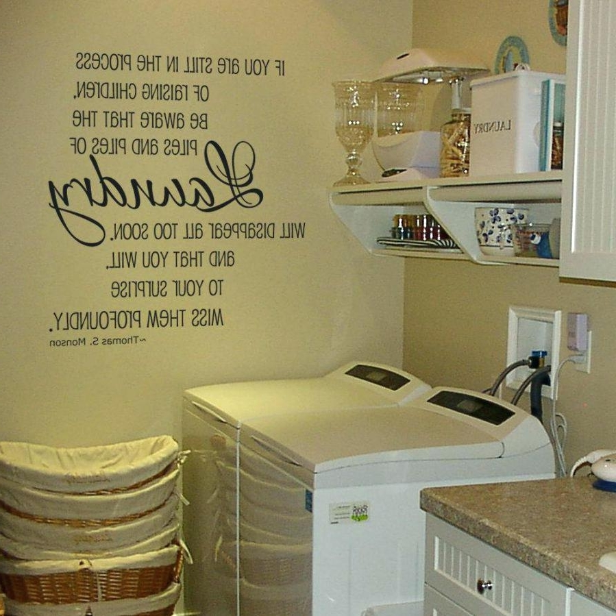 Fashionable Laundry Room Wall Art Decors Within Wall Decals Laundry Room Ideas Decor On Stylish Laundry Room Decor (View 5 of 15)