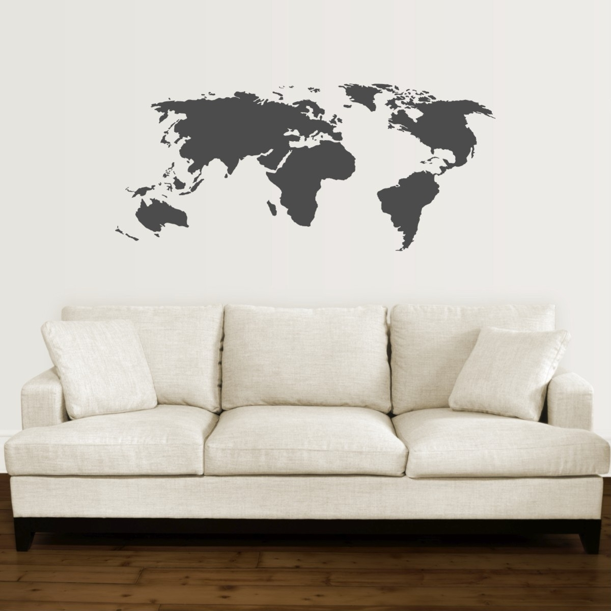 Fashionable Map Wall Art Intended For World Map Wall Quotes™ Wall Art Decal (View 6 of 15)