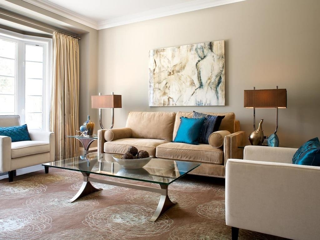 Fashionable Matching Wall Art Pertaining To Glass Coffee Table White Molding Curtains Matching Lamps Patterned (View 4 of 15)