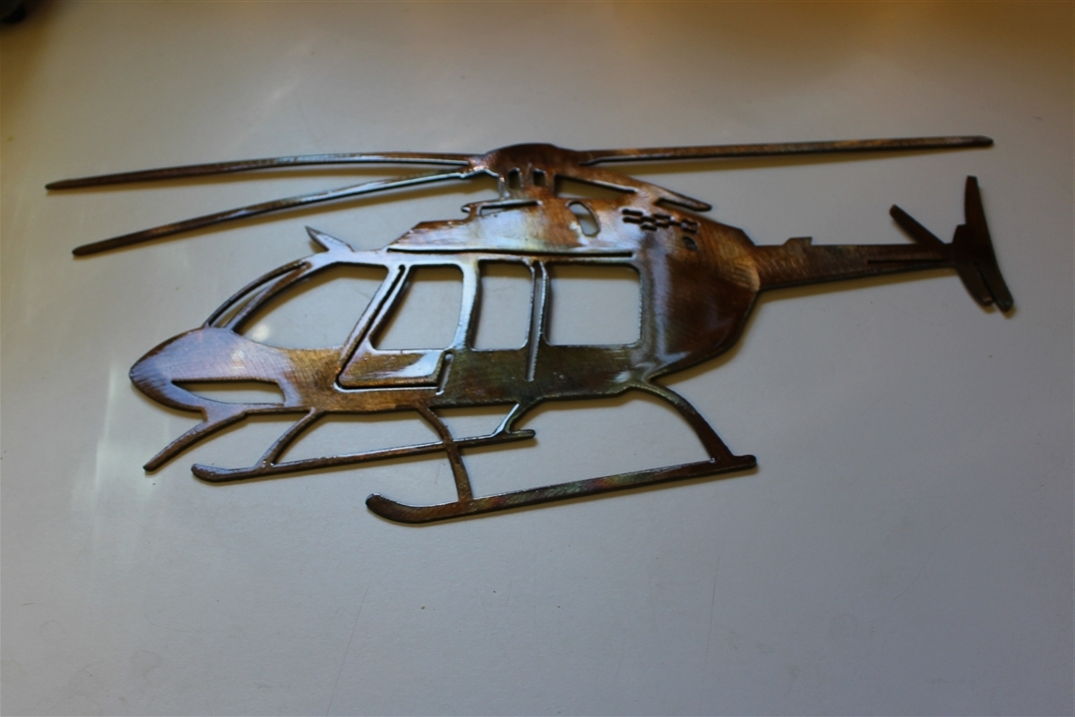 Fashionable Metal Airplane Wall Art Intended For Helicopter Metal Wall Art Decor (View 3 of 15)