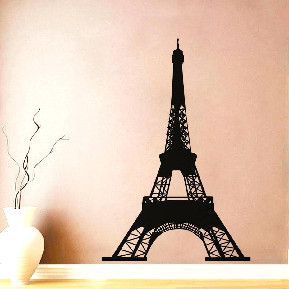 Fashionable Metal Eiffel Tower Wall Art Throughout Wall Decal Eiffel Tower Wall Ideas Tower Iron Wall Decor Tower (View 7 of 15)
