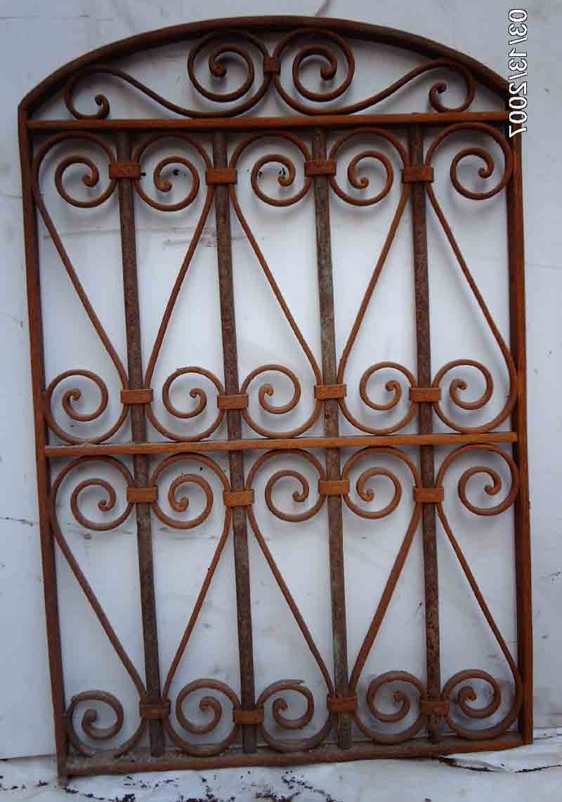 Fashionable Metal Gate Wall Art Throughout Wrought Iron Victorian Gate Hanging Wall Garden Decor 6 – Click (View 3 of 15)