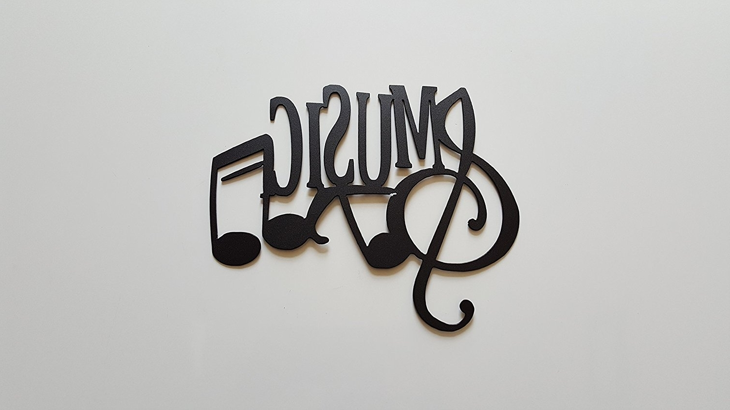 Fashionable Music Metal Wall Art Pertaining To Amazon: Music Word And Music Notes Metal Wall Art Decor: Home (View 3 of 15)