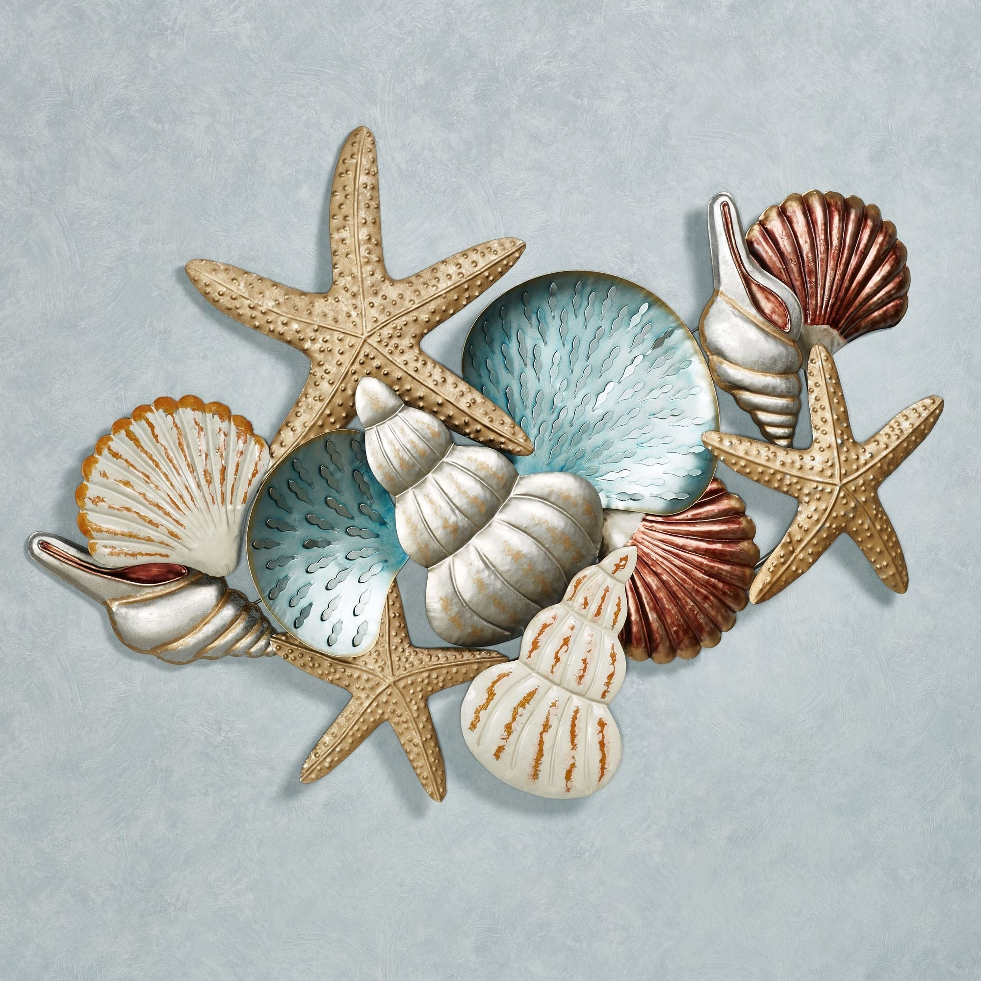 Fashionable Ocean Collage Metal Wall Art Intended For Touch Of Class Metal Wall Art (View 4 of 15)