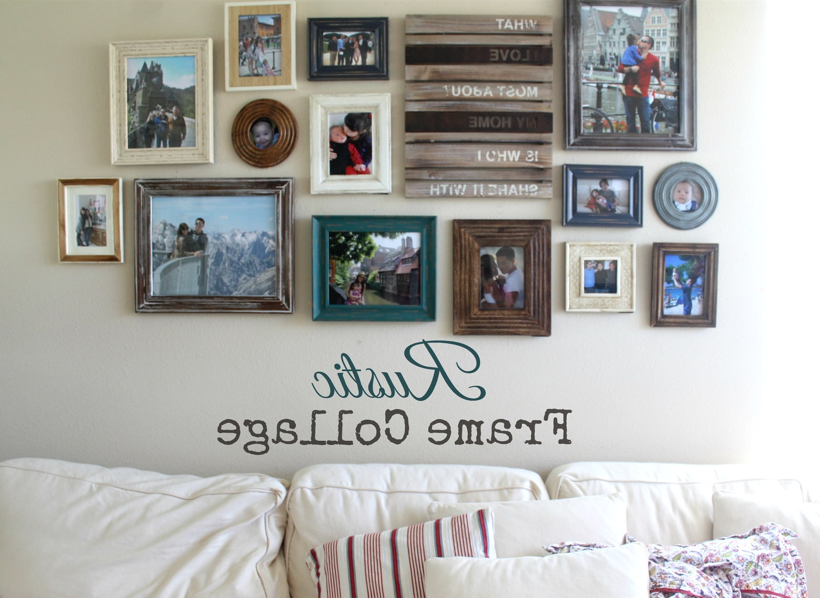 Fashionable Pretty Rustic Frame Collage (View 7 of 15)