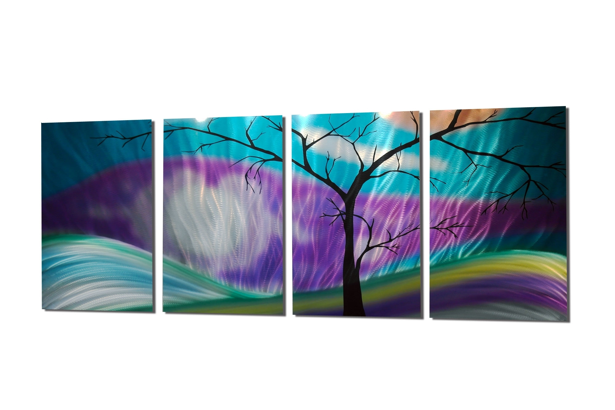 Fashionable Purple Wall Art In Shadow Tree Purple – Abstract Metal Wall Art Contemporary Modern (View 4 of 15)