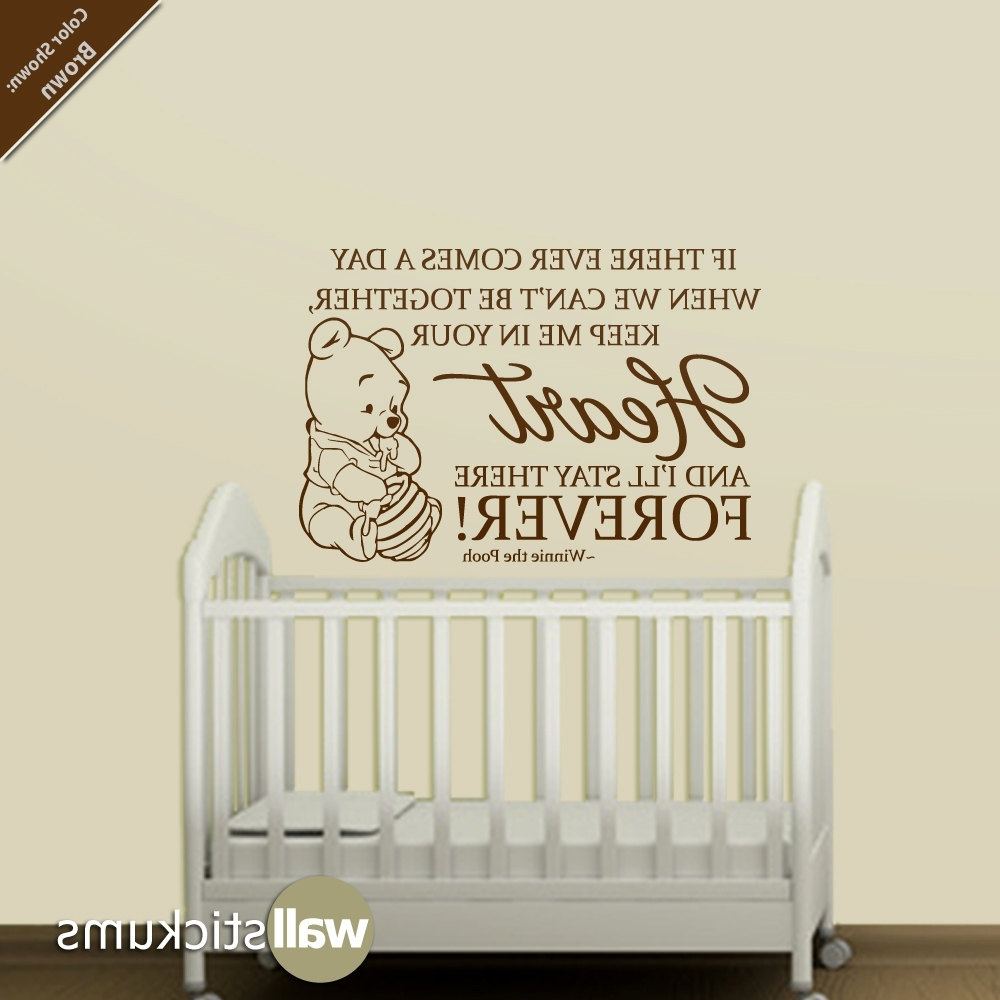 Fashionable Quotes For Baby Room New 15 Winnie The Pooh Wall Art Nursery Regarding Winnie The Pooh Vinyl Wall Art (View 4 of 15)