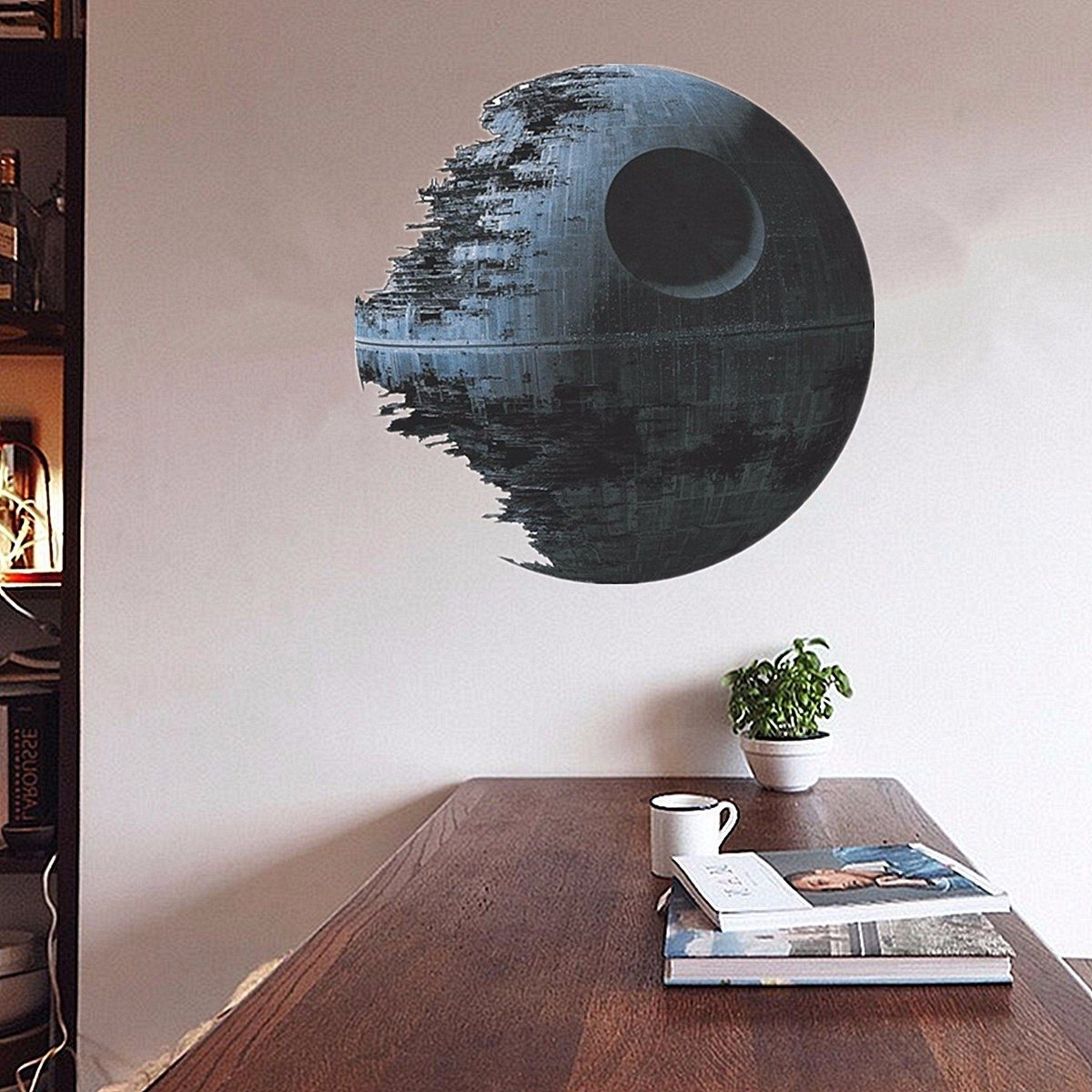 Fashionable Removable Death Star Wars 3d Wall Stickers Art Vinyl Decal Kids For Vinyl 3d Wall Art (View 3 of 15)