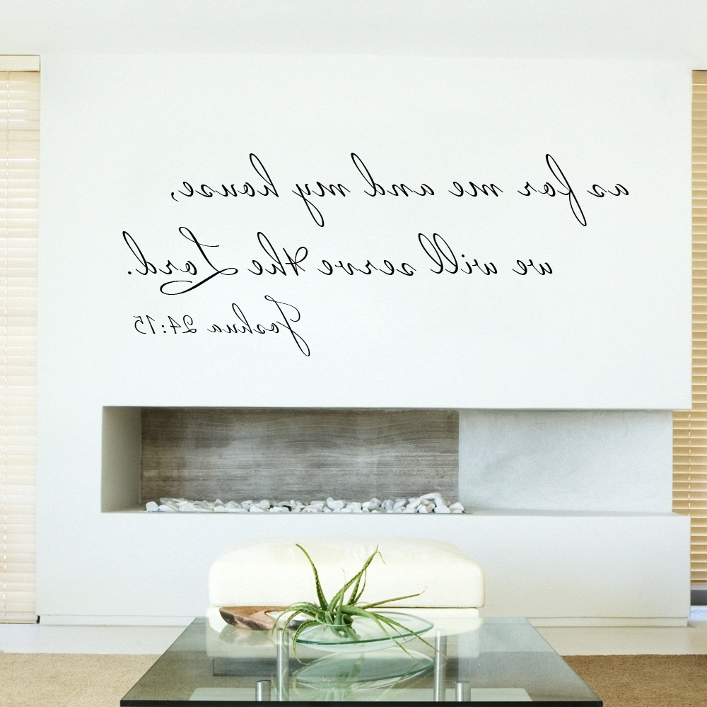 Fashionable Scripture Canvas Wall Art With Regard To Wall Arts ~ Scripture Wall Decal As For Me And My House Bible (View 3 of 15)