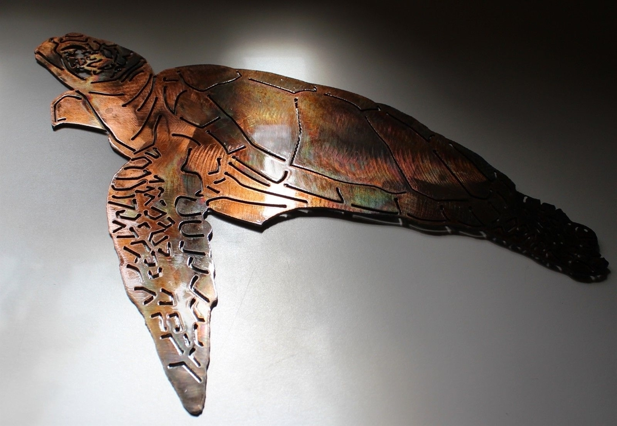 Fashionable Sea Turtle Metal Wall Art Pertaining To Turtle, Turtle Metal Art, Wall Turtle, Sea Turtle (View 3 of 15)