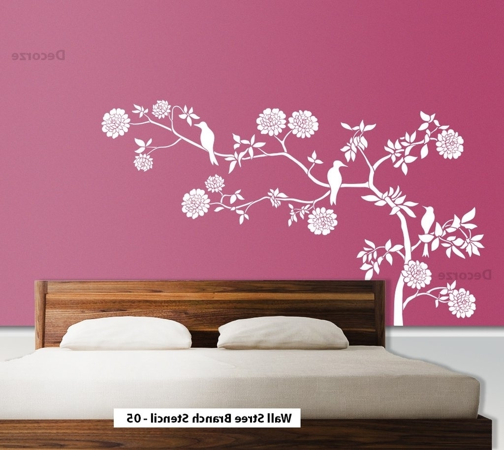 Fashionable Stencil Wall Art Pertaining To Art Stencils For Wall Art How To Stencil A Focal Wall Determine (View 6 of 15)