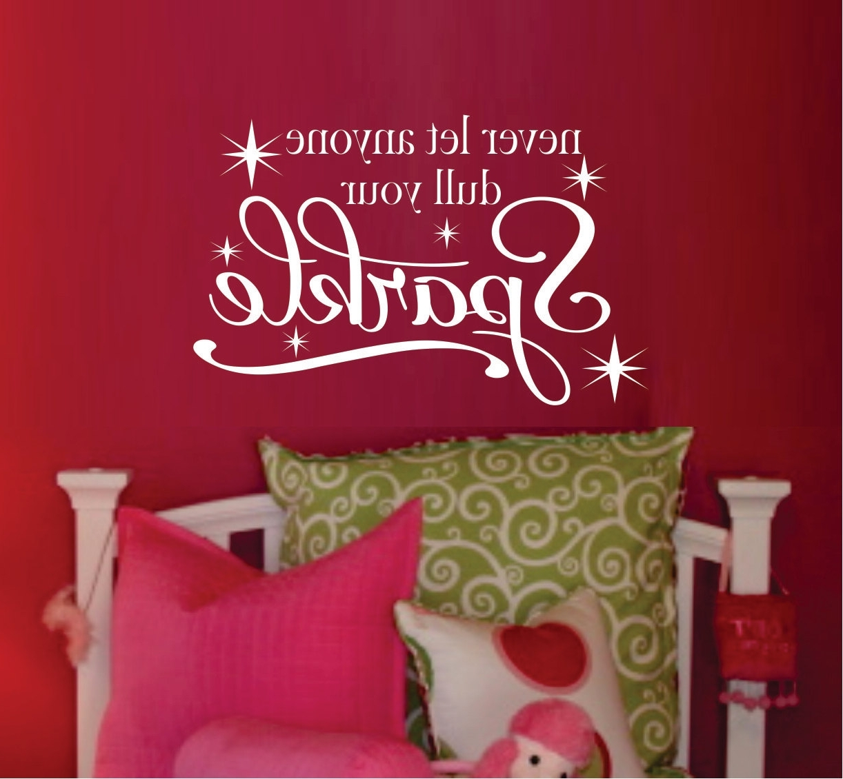 Fashionable Teen Girl Wall Decal u2013 Bedroom Vinyl Wall Decal u2013 Bathroom Vinyl With Regard To & Image Gallery of Wall Art For Teenage Girl Bedrooms (View 8 of 15 ...