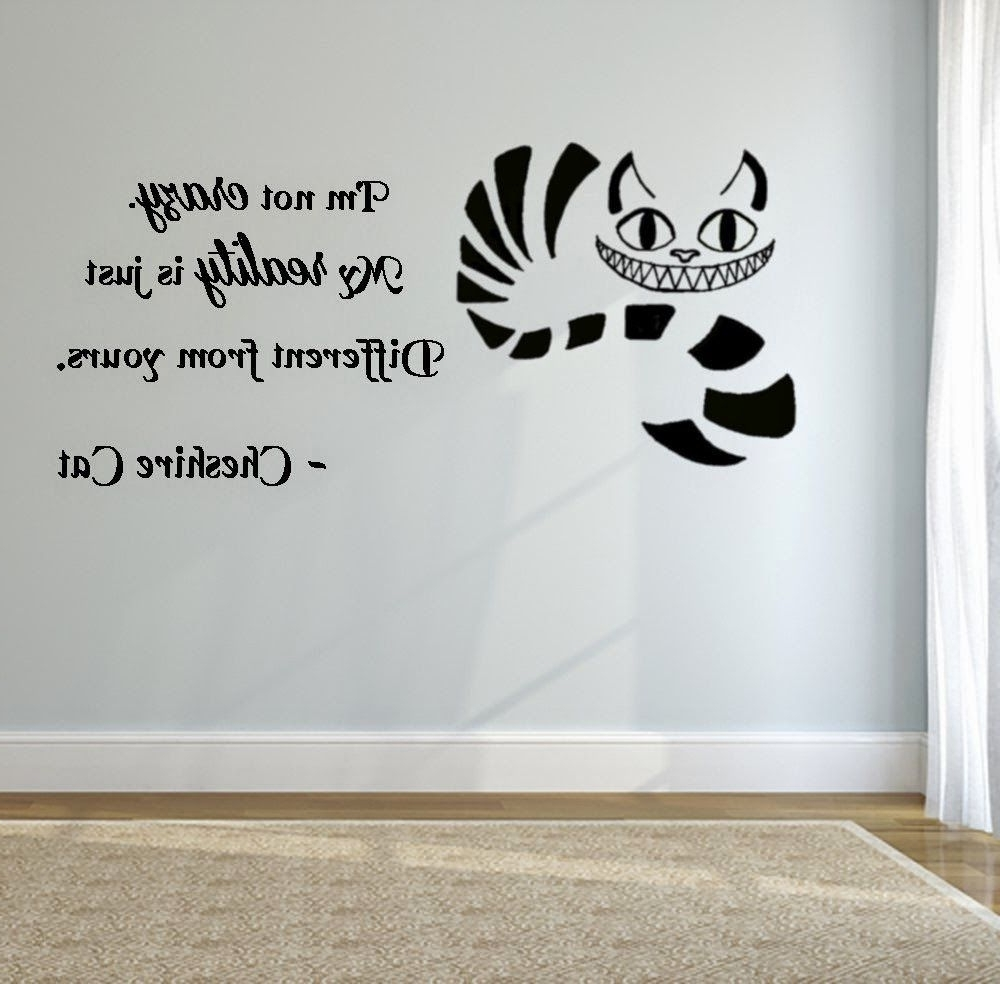 Fashionable Tim Burton Wall Decals With Bedroom Decor Ideas And Designs: Alice In Wonderland Themed (View 3 of 15)