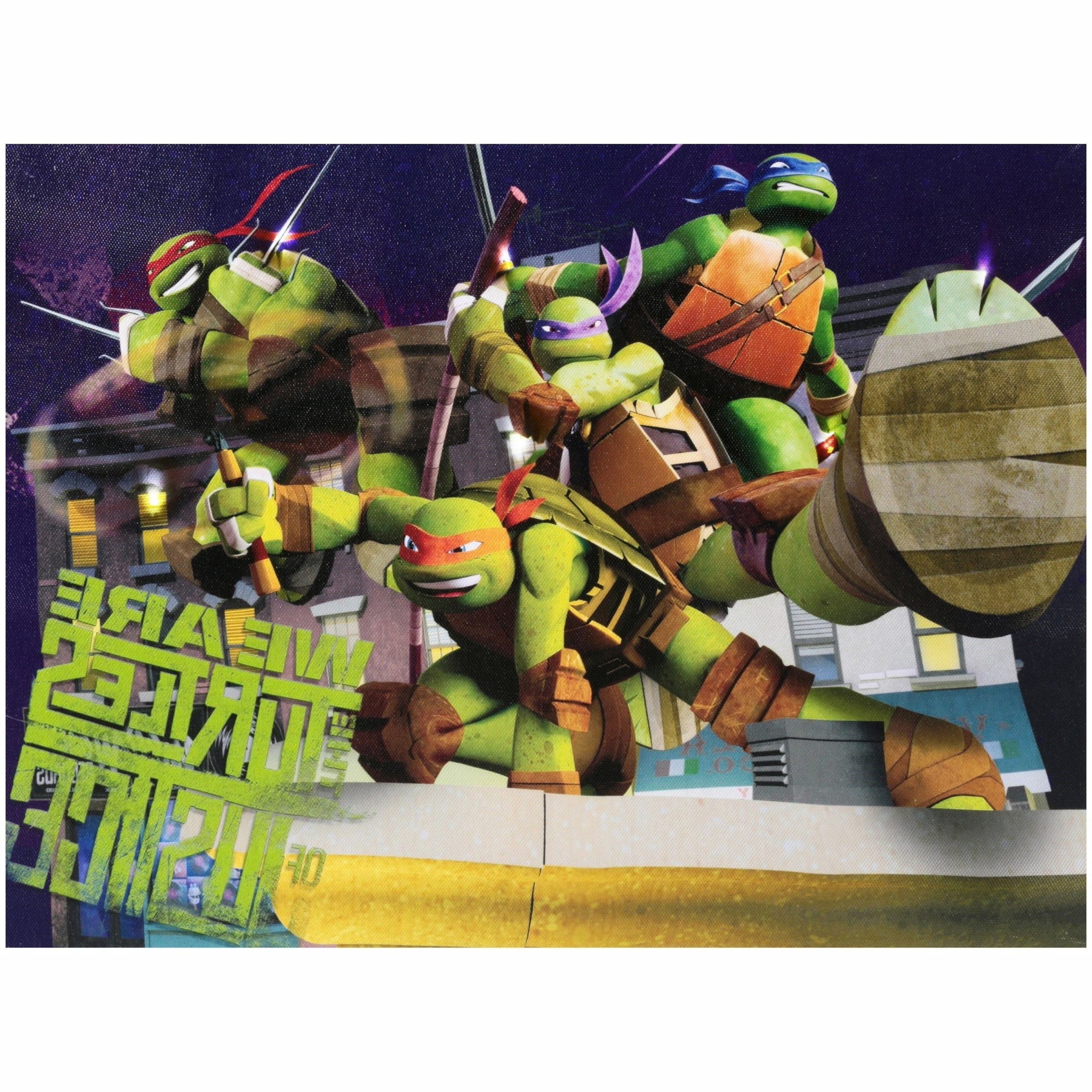 Fashionable Tmnt Wall Art Within Nickelodeon Teenage Mutant Ninja Turtles Light Up Canvas Led Wall (View 9 of 15)