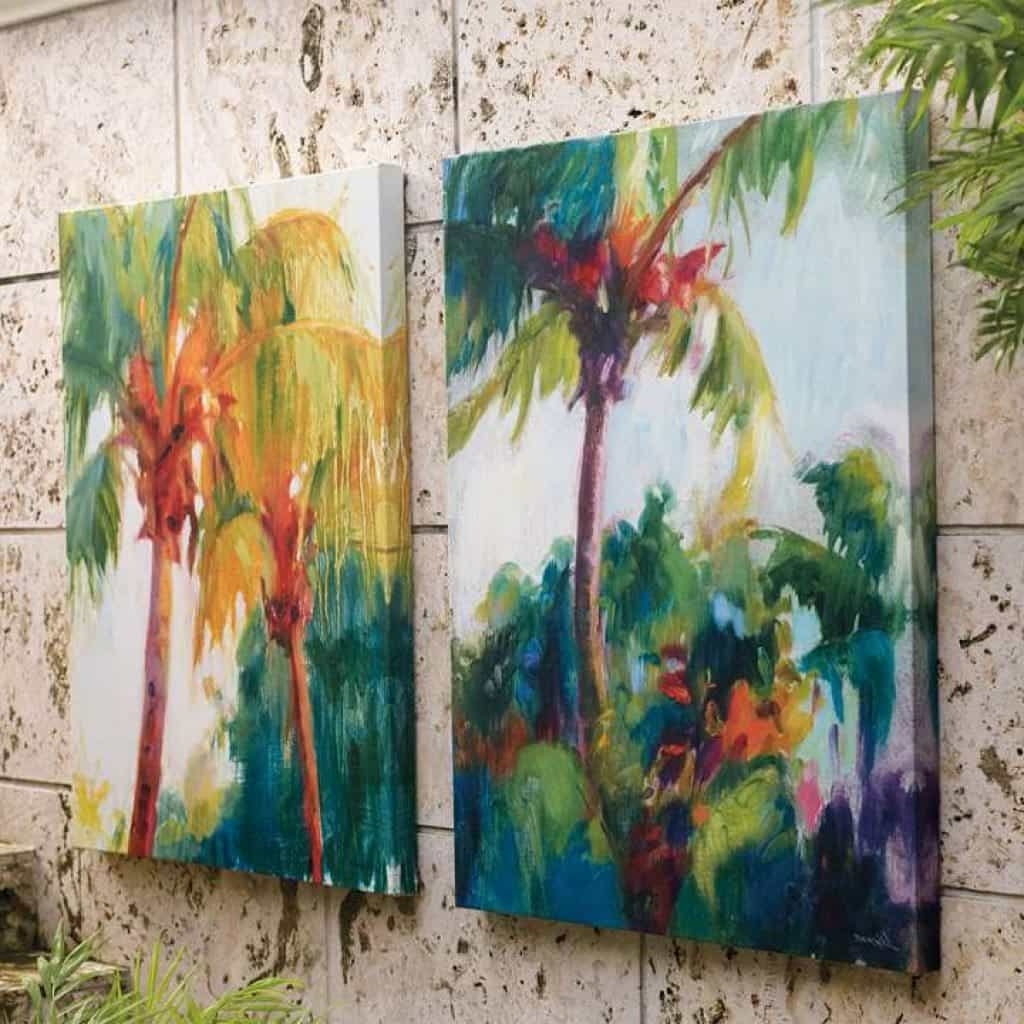 Fashionable Tropical Outdoor Wall Art Within Canvas Tropical Outdoor Wall Arts – Decorative Outdoor Wall Art (View 3 of 15)